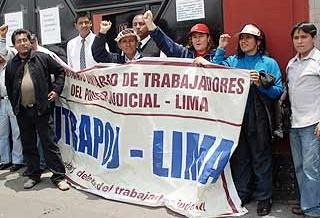 Trabajadores del Poder Judicial inician huelga de hambre